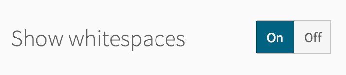 Whitespace settings